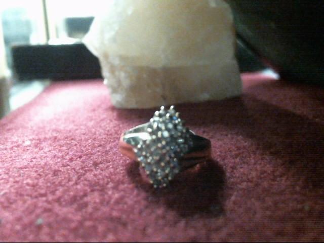 Lady's Diamond Cluster Ring 40 Diamonds .40 Carat T.W. 14K Yellow Gold 3.3dwt