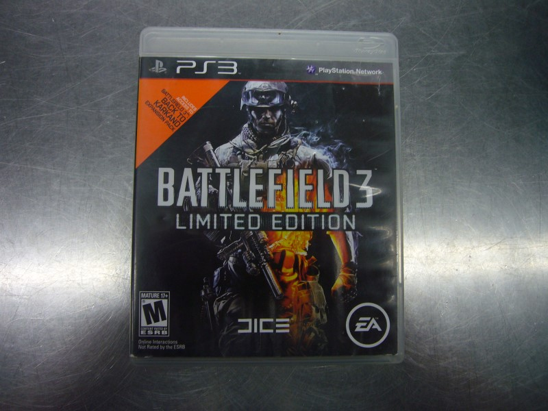 SONY PlayStation 3 Game BATTLEFIELD 3 LIMITED EDITION