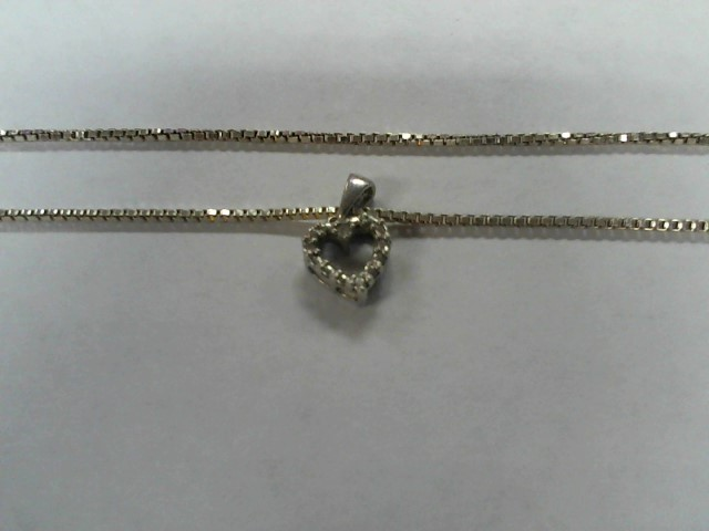 "16"" Diamond Necklace .03 CT. 925 Silver 3g"