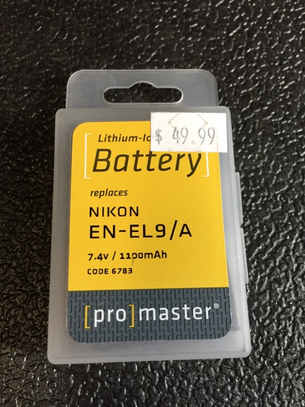 PROMASTER LITHIUM ION REPLACEMENT BATTERY FOR NIKON
