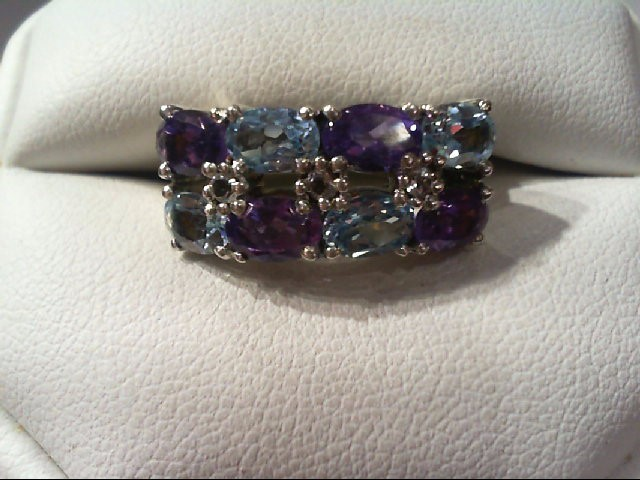 Amethyst Lady's Silver & Stone Ring 925 Silver 6.3g