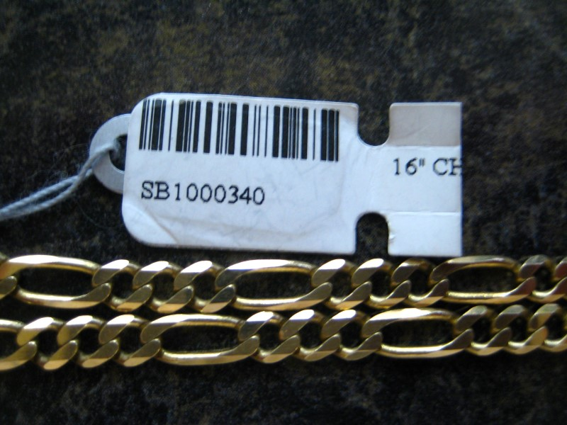 "16"" Gold Chain 14K Yellow Gold 12.77g"