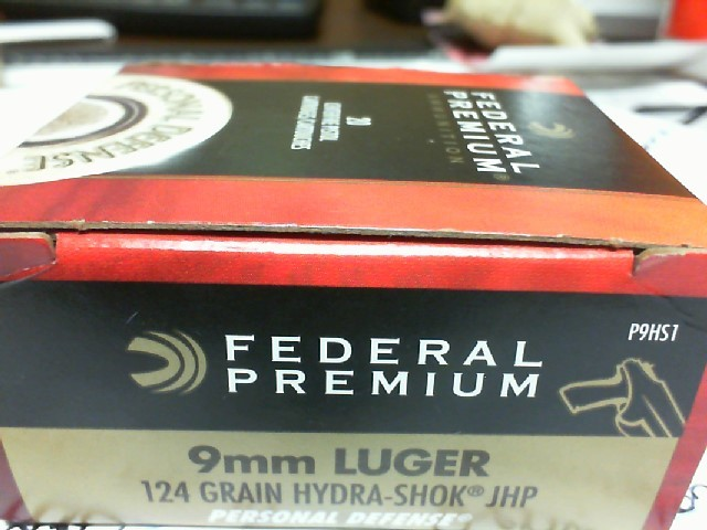 FEDERAL AMMUNITION Ammunition 9MM LUGER 124G JHP