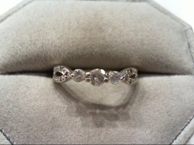 Lady's Diamond Engagement Ring 9 Diamonds .36 Carat T.W. 14K White Gold 2.5g