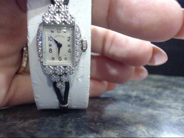 HAMILTON Lady's Wristwatch LADIES 14K & DIA