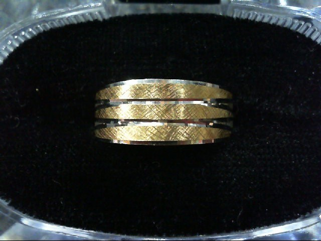 Lady's Gold Wedding Band 14K 2 Tone Gold 4.2g Size:7