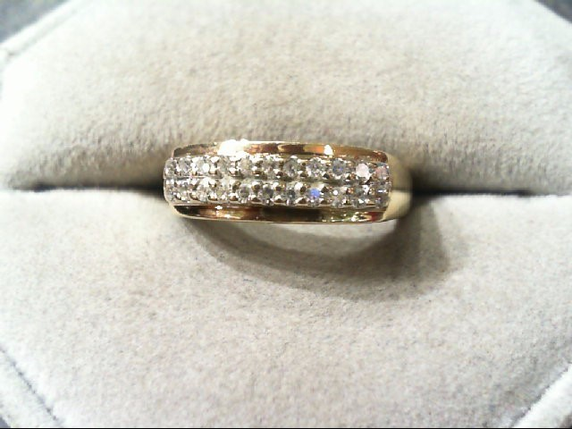 Lady's Diamond Wedding Band 22 Diamonds .22 Carat T.W. 14K Yellow Gold 3g