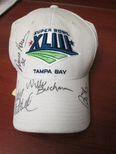 BRAND NEW SUPERBOWL XLIII SIGNED BY FRANCO HARRIS, LYDELL MITCHELL, WILLIE BUCHA