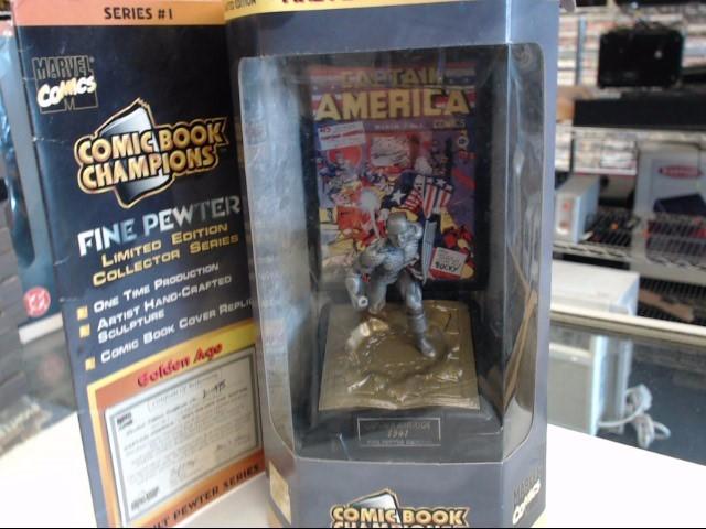 MARVEL COMICS Toy COMIC BOOK CHAMPIONS PEWTER CAPTAIN AMERICA