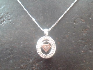 Diamond Necklace 33 Diamonds .060 Carat T.W. 10K White Gold 1.4dwt