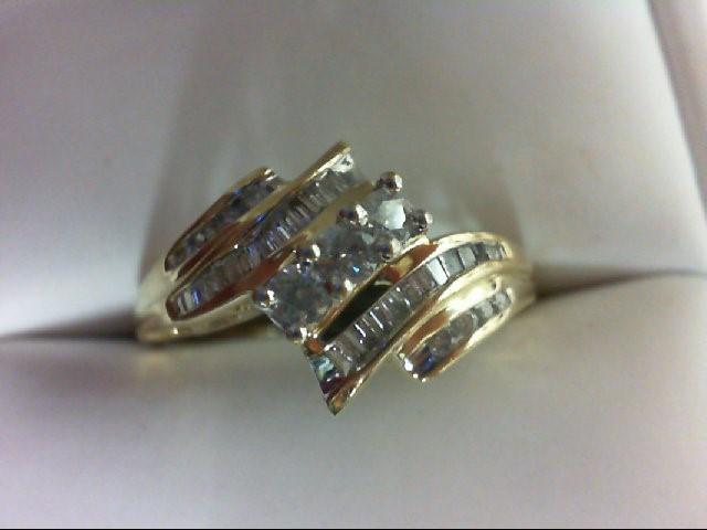 Lady's Diamond Cluster Ring 37 Diamonds 0.52 Carat T.W. 10K Yellow Gold 2.6g