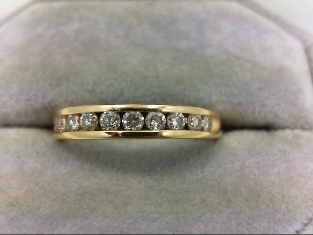 Lady's Diamond Wedding Band 10 Diamonds 0.3 Carat T.W. 14K Yellow Gold 2.9g Size