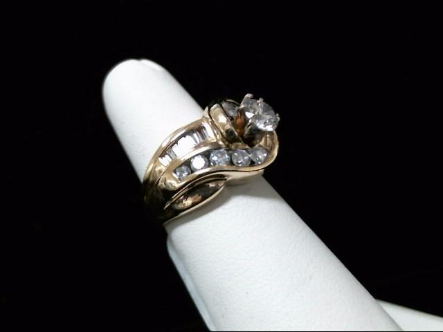 Lady's Diamond Wedding Set 23 Diamonds 1.54 Carat T.W. 14K Yellow Gold 12.5g