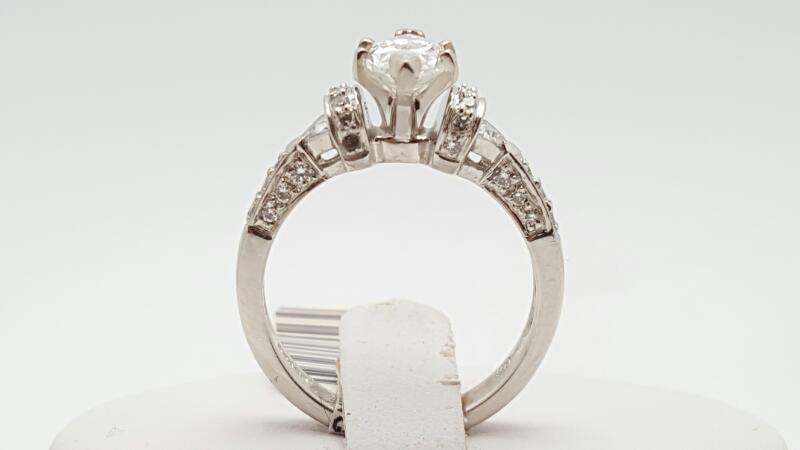 Lady's Platinum-Diamond Wedding Band 19 Diamonds 1.26 Carat T.W. 950 Platinum