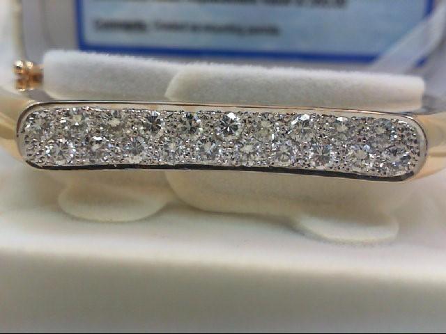 Gold-Diamond Bracelet 20 Diamonds 2.00 Carat T.W. 14K Yellow Gold 35.4g