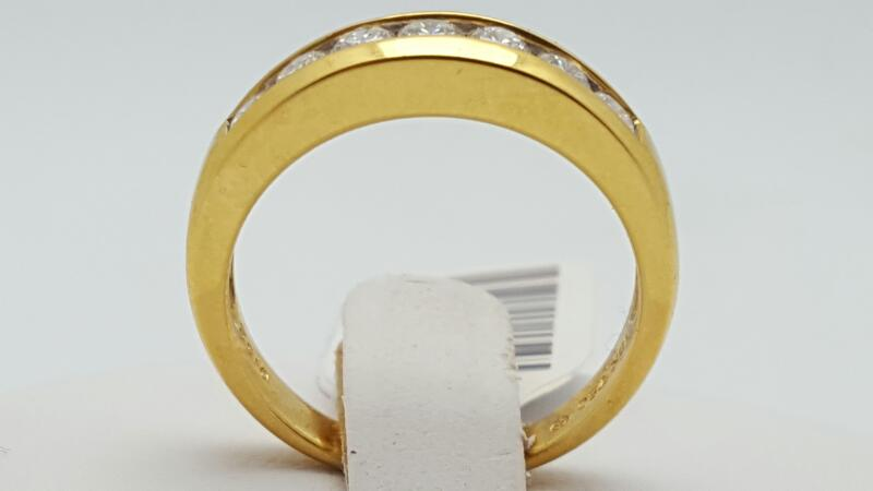 Lady's Gold-Diamond Anniversary Ring 7 Diamonds 0.52 Carat T.W. 18K Yellow Gold