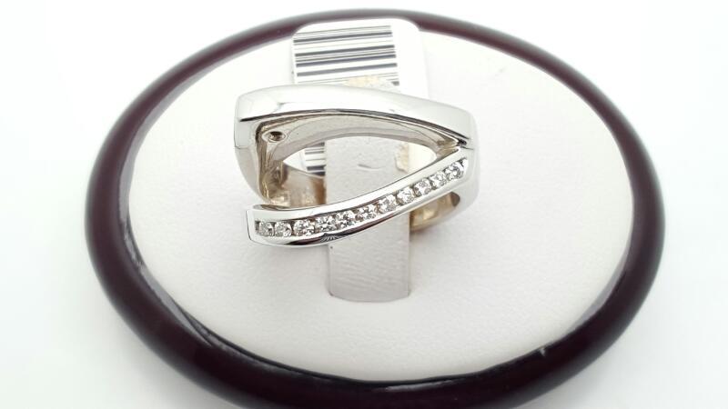 Lady's Diamond Fashion Ring 13 Diamonds .26 Carat T.W. 14K White Gold 13.2g