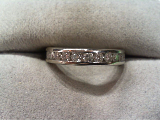 Lady's Diamond Wedding Band 11 Diamonds .55 Carat T.W. 14K White Gold 3.3g