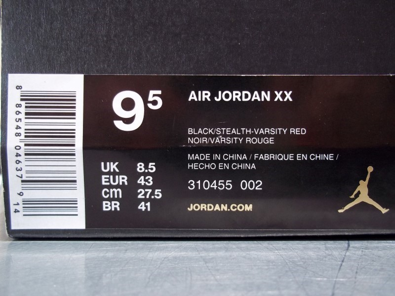 NIKE AIR JORDAN XX SIZE 9.5 MENS SHOES