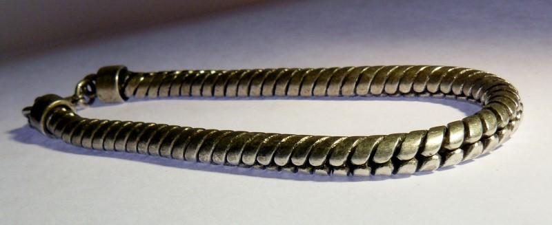 Silver Serpentine Bracelet Vermeil 28.03dwt