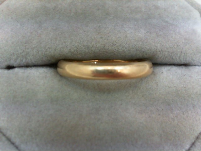 Lady's Gold Wedding Band 14K Yellow Gold 3.4g Size:7