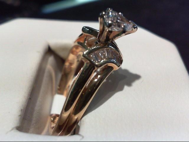 Lady's Diamond Wedding Set 11 Diamonds .45 Carat T.W. 14K Yellow Gold 4.21g