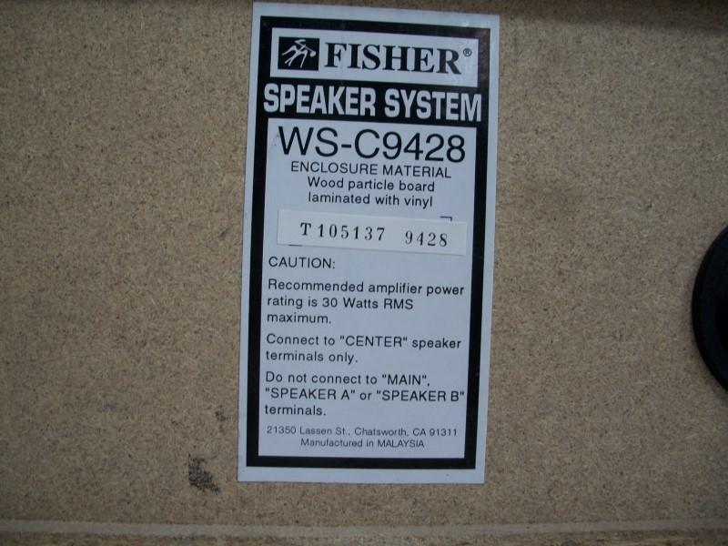 FISHER CENTER SPEAKER