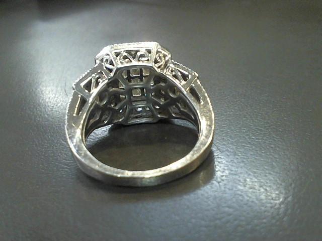 Lady's Diamond Fashion Ring 70 Diamonds 3.66 Carat T.W. 10K White Gold 7.6g