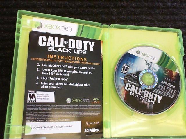 call of duty Microsoft XBOX 360 Game