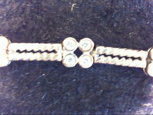 Gold-Diamond Bracelet 44 Diamonds .88 Carat T.W. 10K White Gold 10.6g