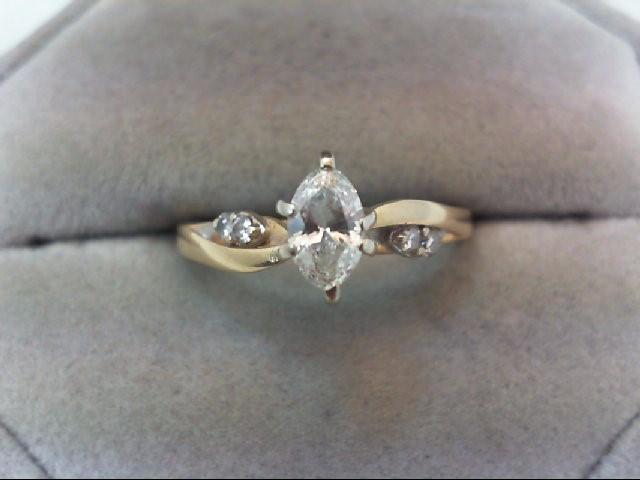 Lady's Diamond Engagement Ring 5 Diamonds .48 Carat T.W. 14K Yellow Gold 2.9g