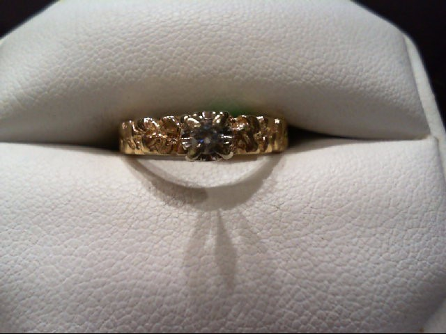 Lady's Diamond Engagement Ring .10 CT. 14K Yellow Gold 2.6g