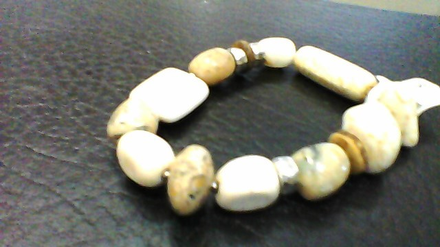 Synthetic Jasper Silver-Stone Bracelet 925 Silver 32g