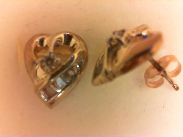 Gold-Diamond Earrings 14 Diamonds 0.2 Carat T.W. 14K Yellow Gold 2.1g