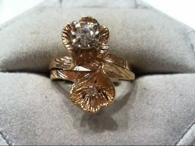 Lady's Diamond Wedding Set 2 Diamonds .18 Carat T.W. 14K Yellow Gold 5.5g