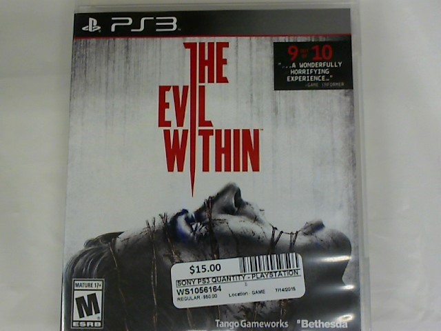 THE EVIL WITHIN-PS3 GAME