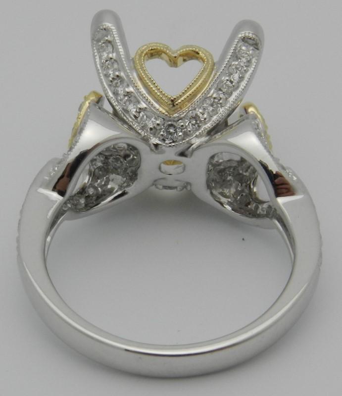 Lady's Diamond Fashion Ring 65 Diamonds .65 Carat T.W. 18K 2 Tone Gold 7.9g