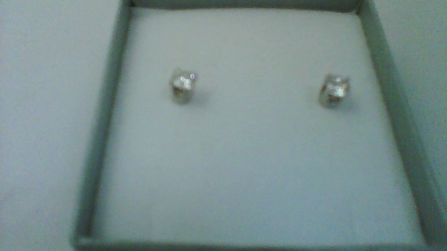 Gold-Diamond Earrings 2 Diamonds .43 Carat T.W. 14K White Gold 0.6g