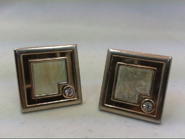 Silver Cuff Links Silver Plate 15.5g