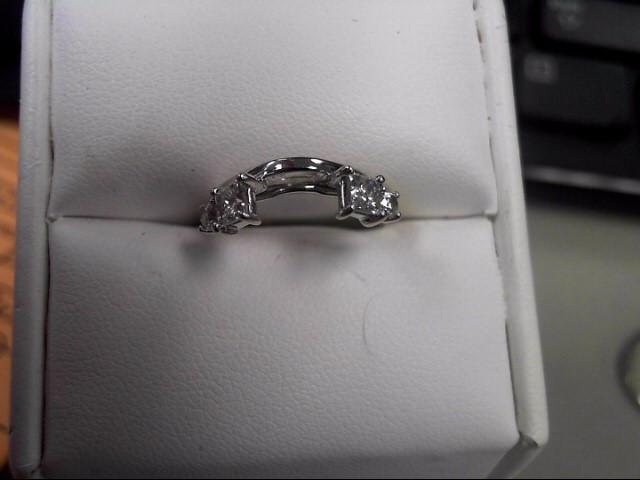 Lady's Diamond Wedding Set 5 Diamonds 1.24 Carat T.W. 14K White Gold 7.25g