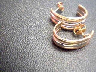 Gold Earrings 14K Tri-color Gold 2.9g