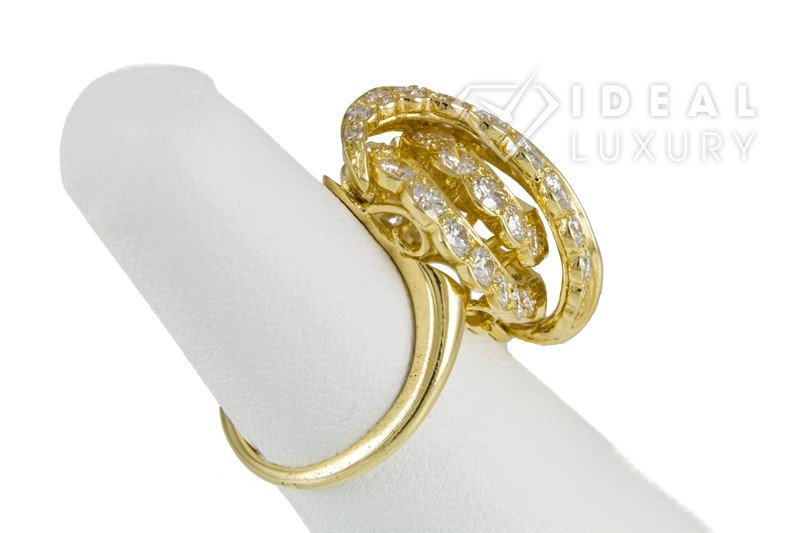 $25,000 Vintage Van Cleef & Arpels 18k Yellow Gold & Diamond Ring VCA France