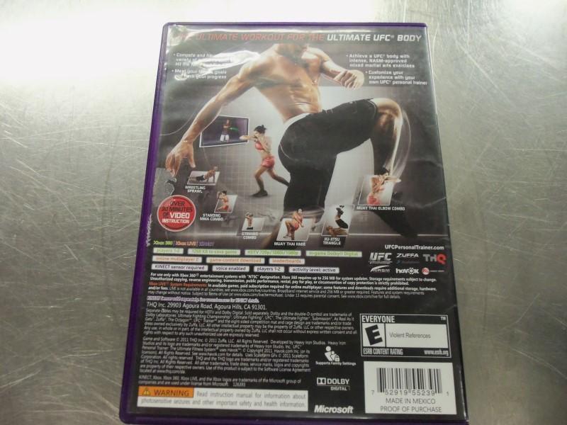 MICROSOFT XBOX 360 UFC TRAINER KINECT W BOOK