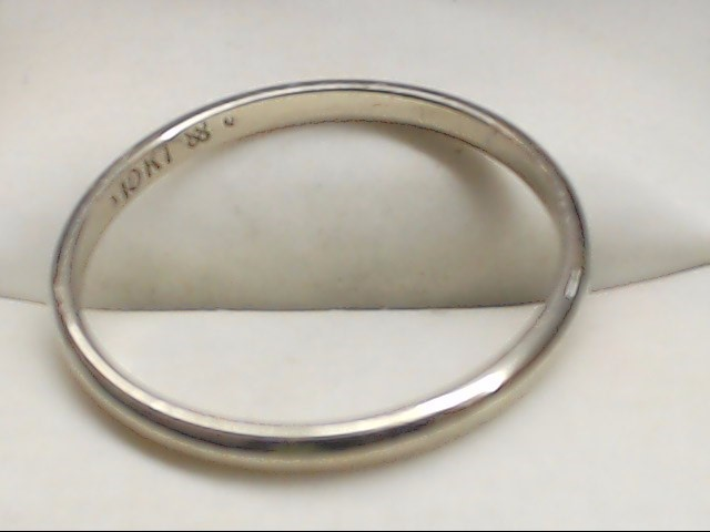 Lady's Gold Wedding Band 10K White Gold 1.7g Size:11