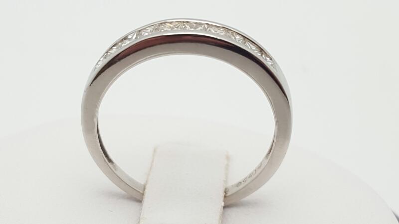 Lady's Platinum-Diamond Anniversary Ring 10 Diamonds .50 Carat T.W. 950 Platinum