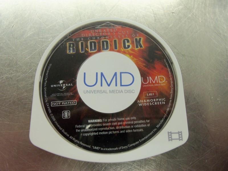 SONY PSP UMD THE CHRONICLES OF RIDDICK DISC ONLY