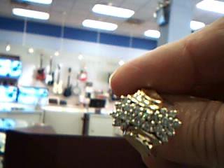 Lady's Diamond Fashion Ring 20 Diamonds 1.00 Carat T.W. 14K Yellow Gold 6.3g
