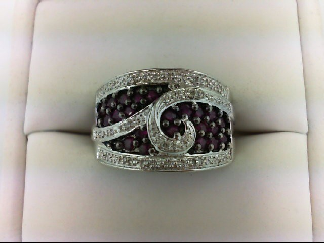 Ruby Lady's Silver & Stone Ring 925 Silver 6.5g Size:7