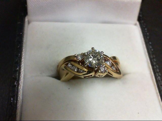 Lady's Diamond Wedding Set 9 Diamonds 0.55 Carat T.W. 10K Yellow Gold 4.2g