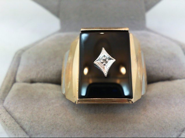 Gent's Gold Ring 10K 2 Tone Gold 6.9g